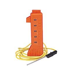 Medidor de corriente de neón.